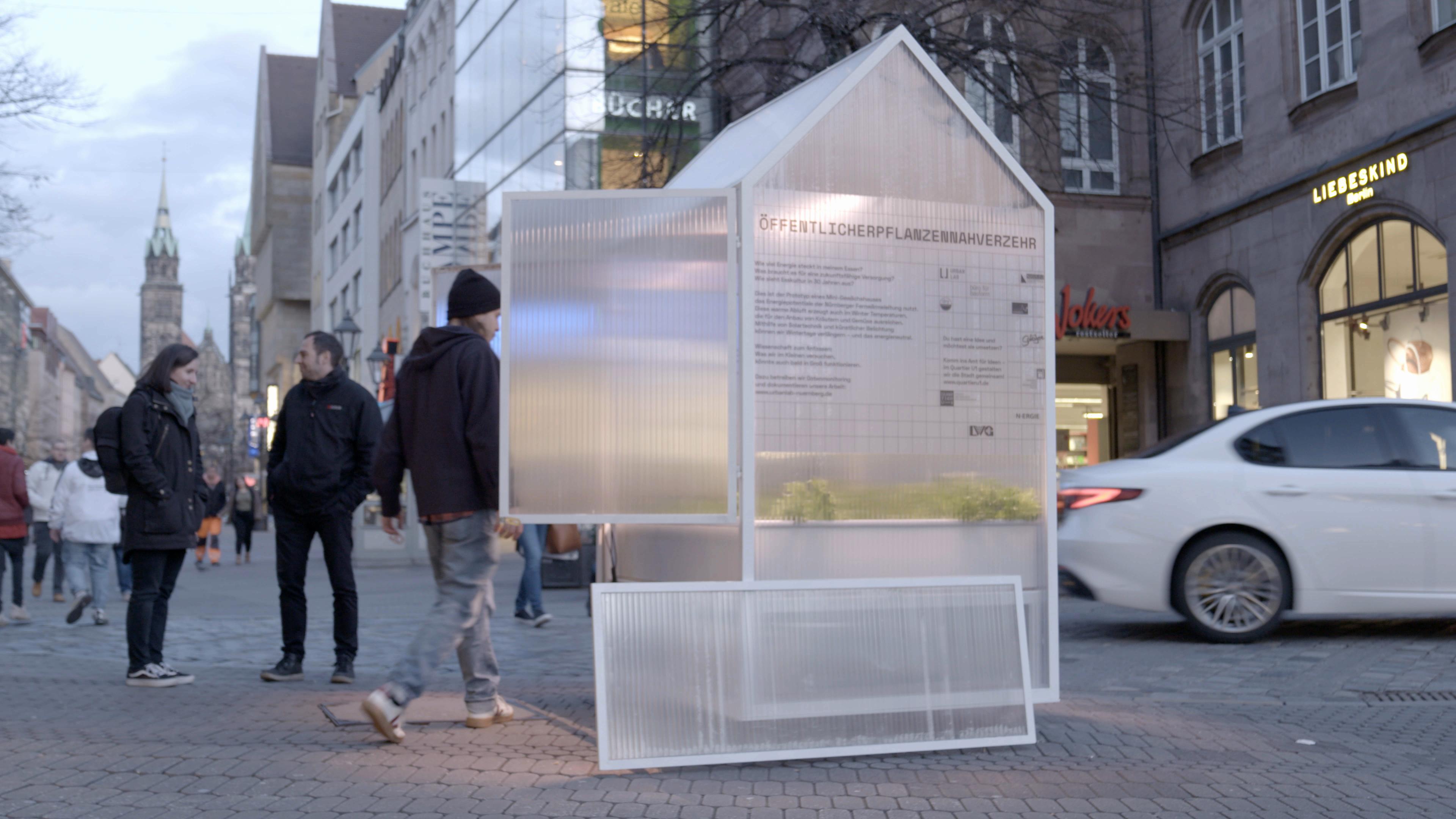 Das Gewächshaus des Urban Lab in der Nürnberger Innenstadt
