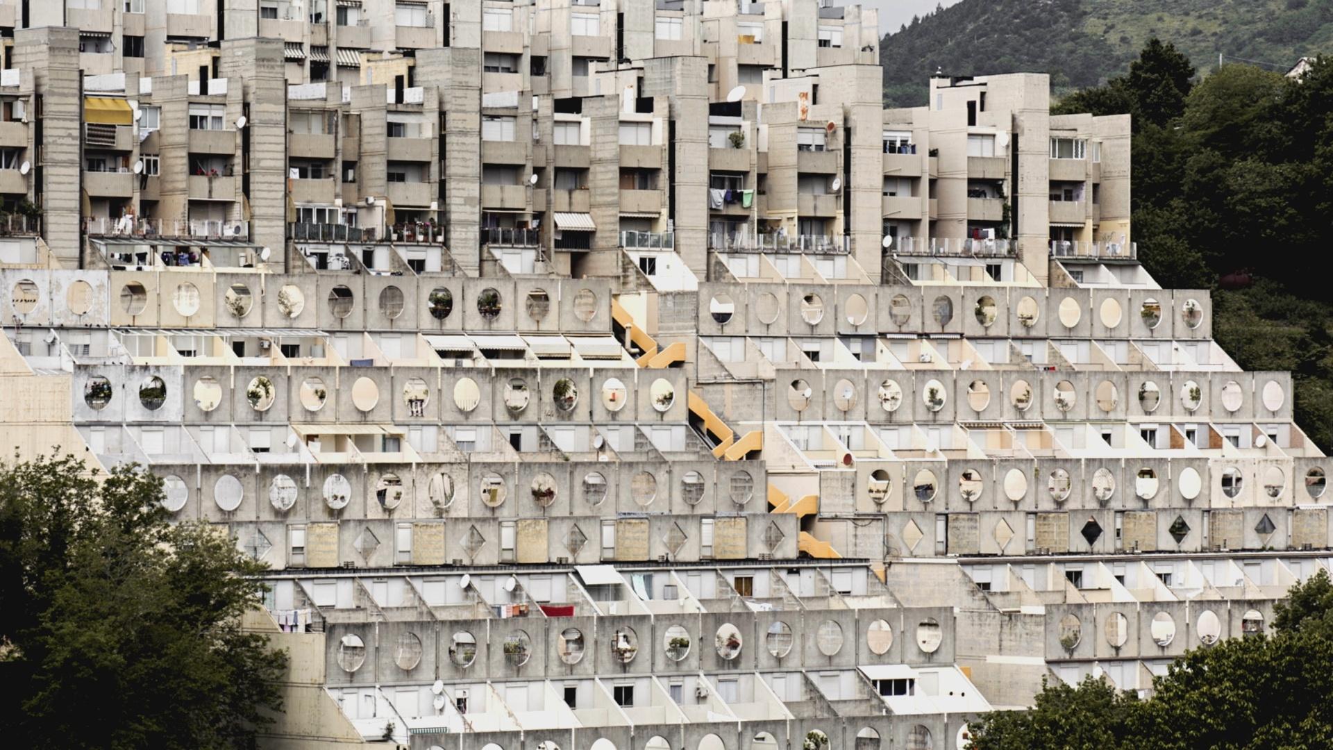Brutalismus in Beton